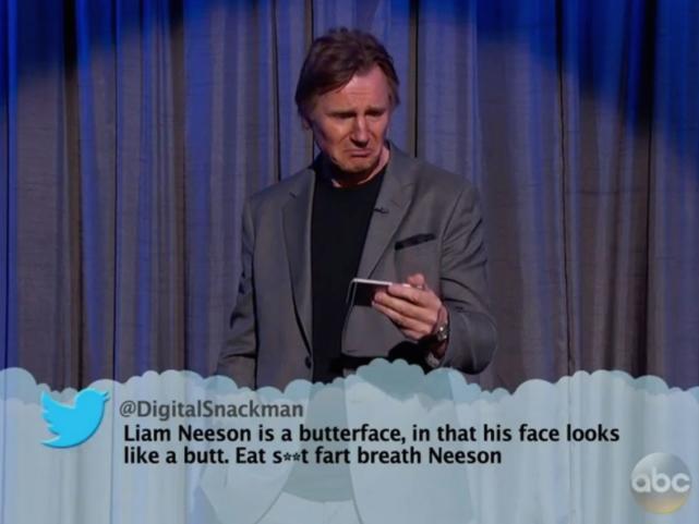 Sad Liam Neeson