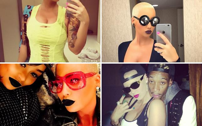 Amber rose with a selfie