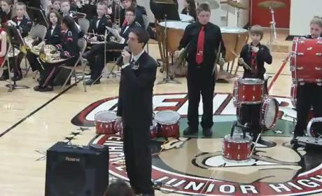 Star Spangled Banner Cymbal Mishap