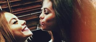 Selena Gomez and Vanessa Hudgens Kiss