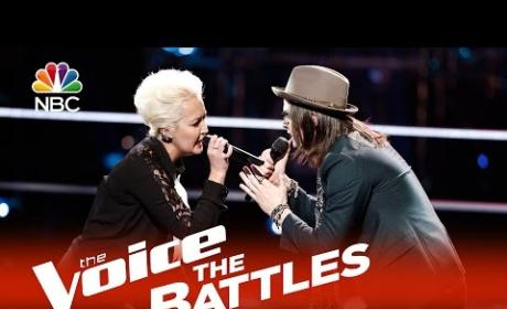 Meghan Linsey vs. Paul Pfau (The Voice Battle Round)