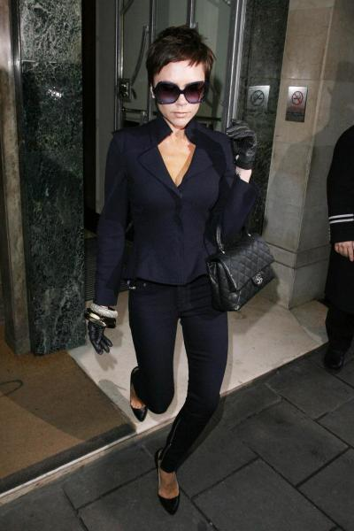 Victoria Beckham Out in London