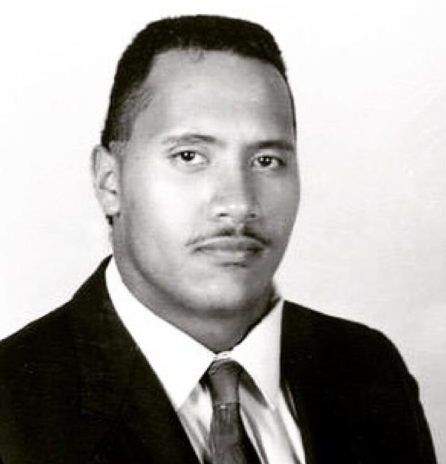 Dwayne johnson throwback photo
