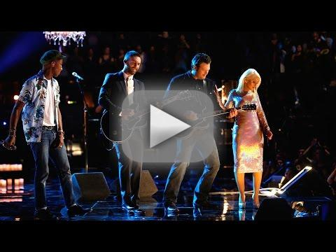 Blake adam pharrell and christina the thrill is gone the voice