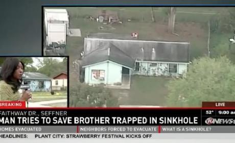 Sinkhole Swallows Florida House; Man Missing