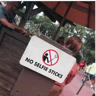 Disney No Selfie Sticks
