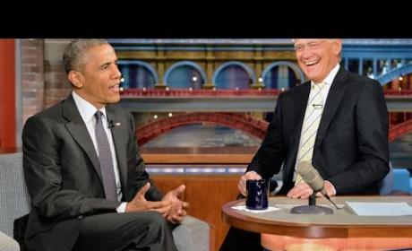 Barack Obama Wants to Play Dominoes with David Letterman