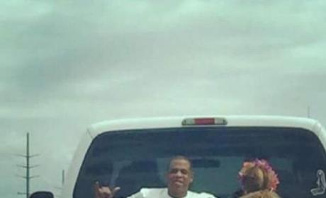 Beyonce and Jay Z Pickup Truck Photo