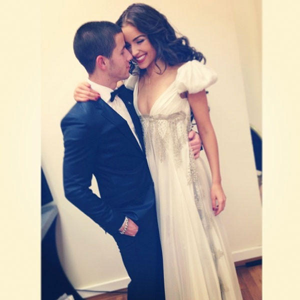 Olivia Culpo with Nick Jonas