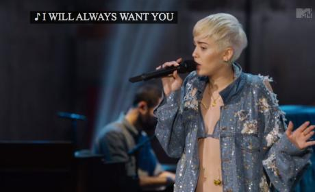 "Miley Cyrus Unplugged: ""Wrecking Ball"""