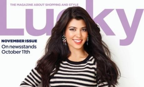 Kourtney Kardashian Lucky Cover