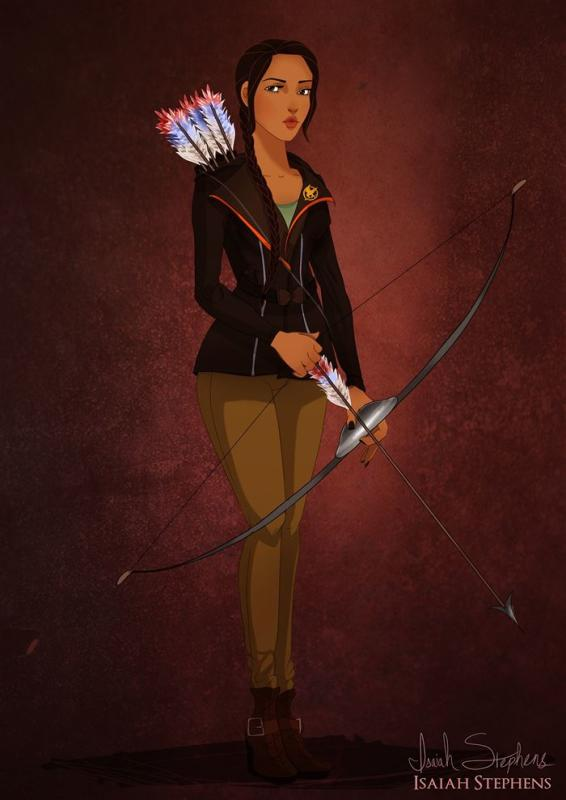 Pocahontas as Katniss Everdeen