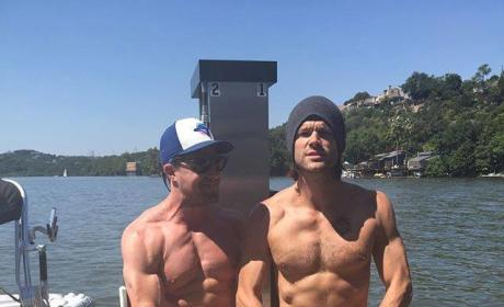 Stephen Amell and Jared Padalecki Shirtless