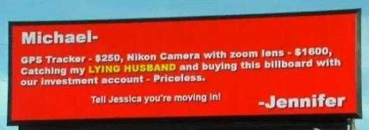 Cheating Husband Billboard