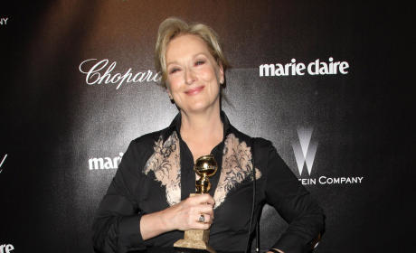 Meryl Streep at the Golden Globes