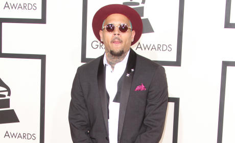 Chris Brown at the 2015 Grammys