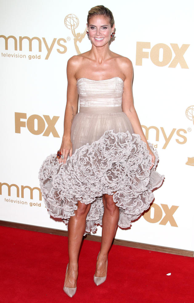 Heidi Klum at the 2011 Emmys