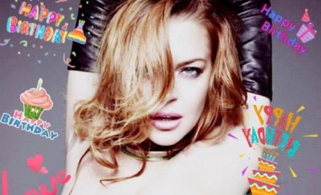 Lindsay Lohan REALLY Wants You to Care That She Turned 30