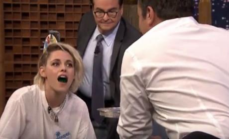 Kristen Stewart Takes Shots