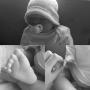 Courtney Stodden Reborn Baby Black White