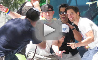 Channing Tatum and Matt Bomer Dance in L.A. Pride Parade