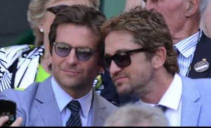 "Gerard Butler Stars in ""Man In Blue Jacket Watches a Tennis Match"""