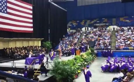 High School Senior Strips Down at Graduation, Loses Diploma