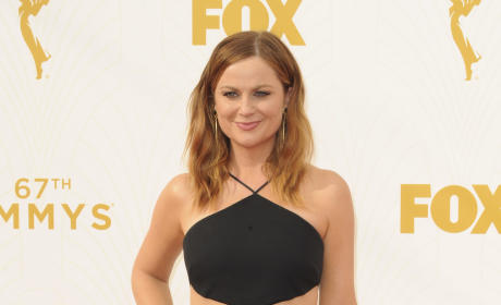 Amy Poehler at the 2015 Emmy Awards