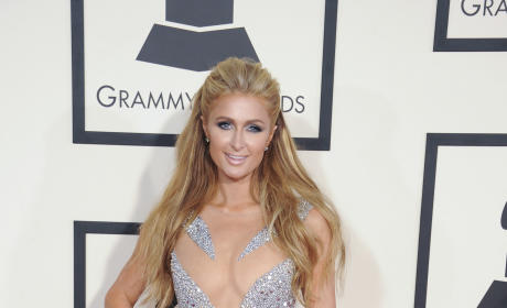 Paris Hilton at the 2015 Grammys