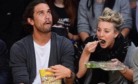 Kaley Cuoco Gets Caught in Awkward Eating Photo, Reposts It Because Eff the Haters!