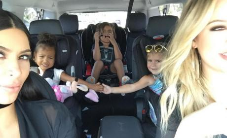 North West Holds Hands with Penelope Disick