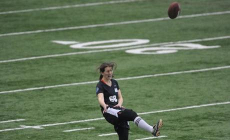 Lauren Silberman Pulls Up Lame at NFL Combine