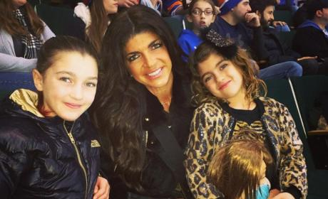 Teresa Giudice with Two Kids