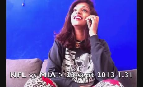 "M.I.A. Sued By NFL For Flipping Bird, Accuses League of ""Massive D--k Shaking"""