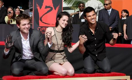 Robert Pattinson, Kristen Stewart and Taylor Lautner: Immortalized in Hollywood!