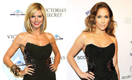 Who wears this Louis Vutton dress better: Heidi Klum or Jennifer Lopez?
