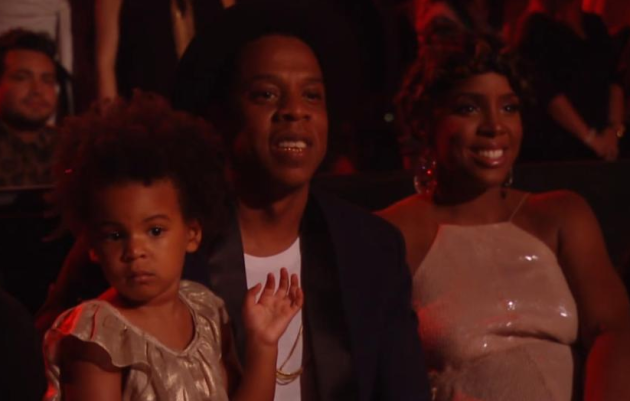 Blue Ivy, Jay Z Watch Beyonce
