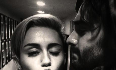 Miley Cyrus Puckering Up