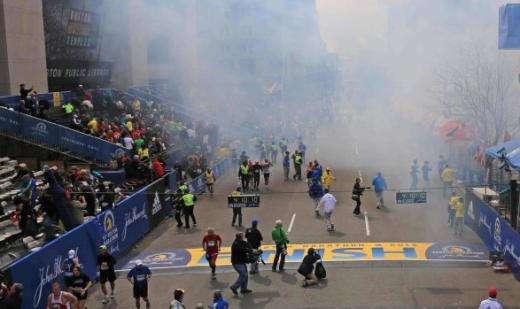 Boston Bombing Scene