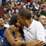 Kiss Cam Obamas