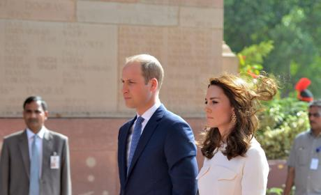 Kate Middleton's Hem Blows In The Wind