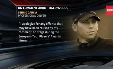 Sergio Garcia Makes Fried Chicken Joke About Tiger Woods