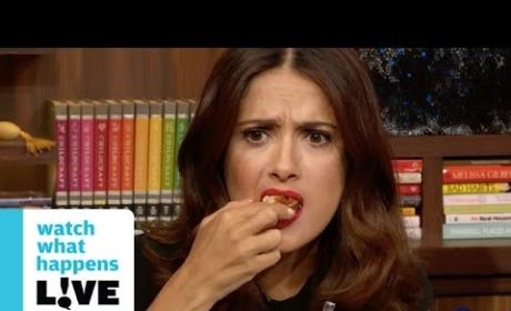 Salma Hayek Eats Worms, Deep Fried Frog: See It Here!