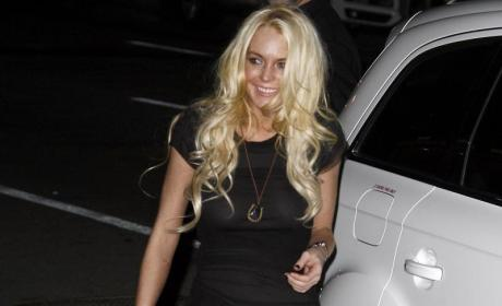 Lindsay Lohan Parties a Friend Way Too Hard