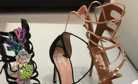 Blac Chyna Shows Off Three Pairs of Expensive Shoes