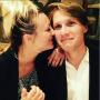 Kaley Cuoco nuzzles Karl Cook