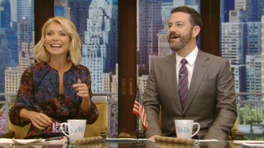 Kelly Ripa and Jimmy Kimmel