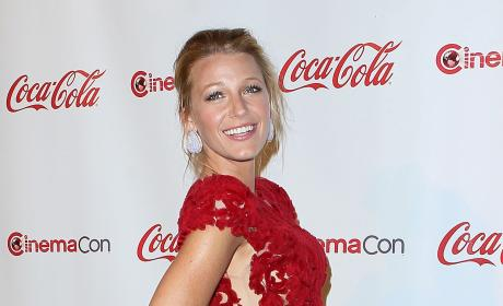 Blake Lively in Red Dress