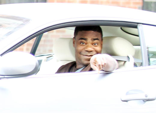 Tracy Morgan in a Car
