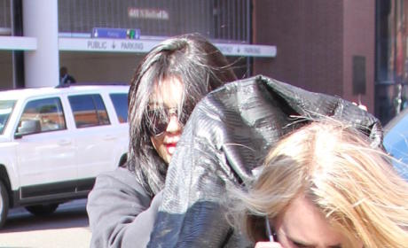 Kylie Jenner leaving building in Beverly Hills